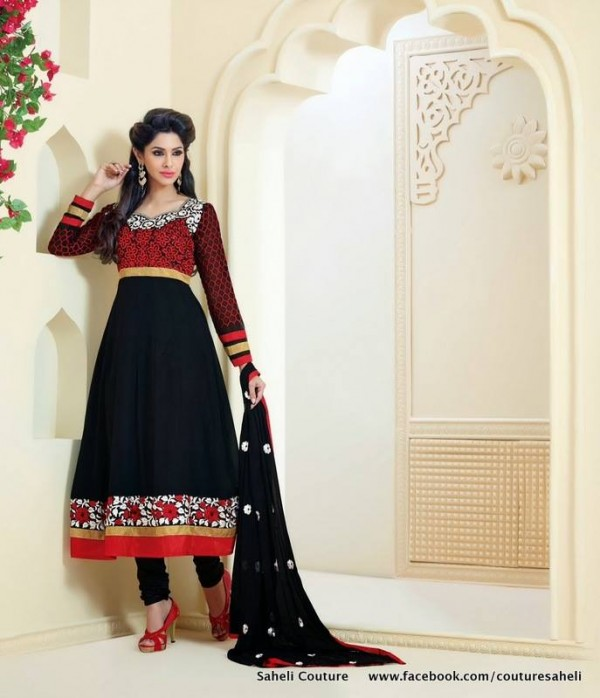 Rose Petals Indian Frocks Collection 2014 by Saheli Couture 67