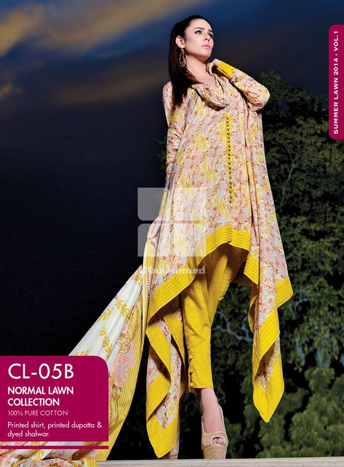 gul ahmed summer lawns vol 01 wear collection for women 24 Gul Ahmed Summer Lawn Vol  1 Collection 2014