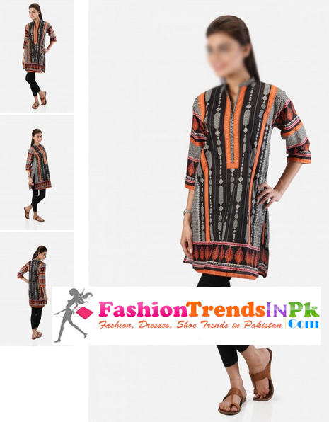 Stitched-Khaadi-Short-Kurta-for-Girls
